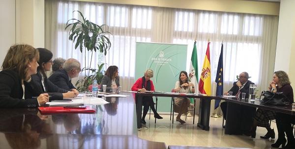 Encuentro de trabajo de CERMI Andalucía en la Consejería de Salud y Familias