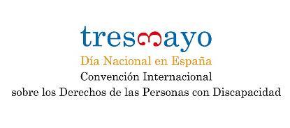 Logotipo dedicado al 3 de mayo, día nacional en España de la Convención Internacional sobre los Derechos de las Personas con Discapacidad