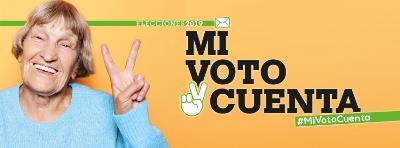 Imagen de la campaña 'Mi voto cuenta'