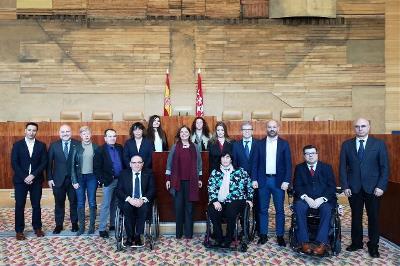 Celebración del XX Aniversario del CERMI Comunidad de Madrid en la Asamblea regional.