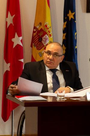 Óscar Moral, presidente de CERMI Madrid, en un acto de celebración del 20 aniversario