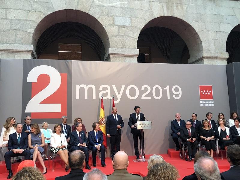 CERMI Madrid recoge la Medalla de Plata de la Comunidad de Madrid (imagen del acto)