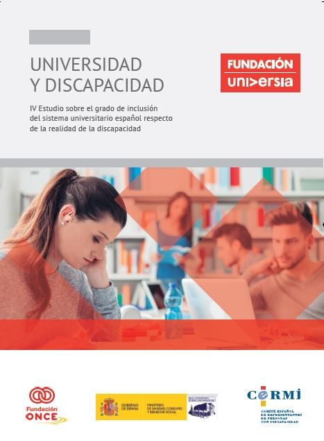Portada del IV Estudio sobre el grado inclusión del sistema universitario español respecto de la realidad de la discapacidad