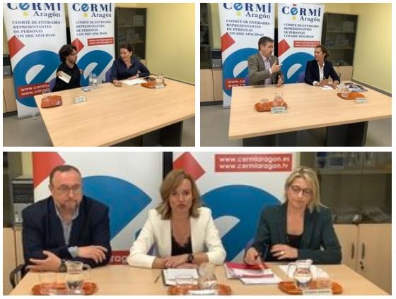 Candidatos de PP, Podemos y PSOE exponen sus propuestas electorales sobre discapacidad en CERMI Aragón