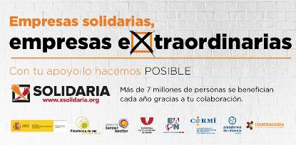 Imagen de la X Solidaria en el impuesto de sociedades