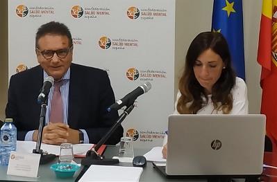Andrés Jiménez, jefe de Área de Seguridad y Justicia del Defensor del Pueblo presentando Investigación del Defensor del Pueblo sobre la situación de las personas con discapacidad intelectual internas