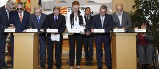 Firma del Pacto por la Discapacidad en Aragón