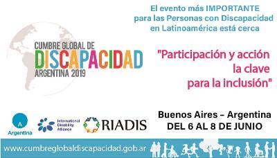 Cartel de la Cumbre Global de Discapacidad de Argentina