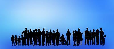 Icono que representa la inclusión en un grupo de personas.