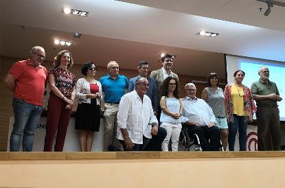 Foto de familia de la Asamblea electoral extraordinaria de CERMI Andalucía