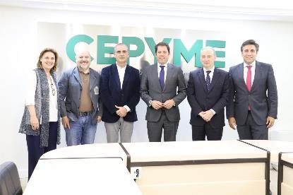 Representantes de Cermi, PTS y Cepyme.