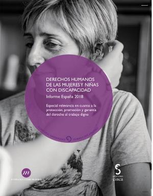 Portada del a publicación: Derechos humanos de las mujeres y niñas con discapacidad. Informe España 2018