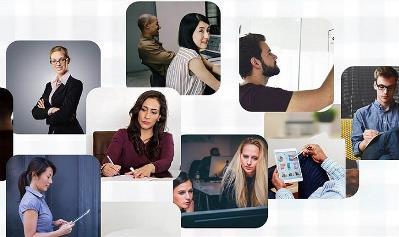 Imagen de trabajadores en red
