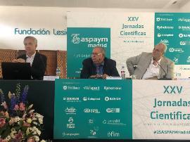 Imagen de la mesa sobre 'Investigación en reparación medular' de las XXV Jornadas Científicas de Aspaym Madrid