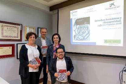 Imagen de la presentación del 'Informe España derechos humanos y discapacidad 2018'
