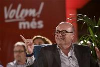 Carlos Laguna, diputado de les Cortes Valencianas y periodista durante un discurso electoral