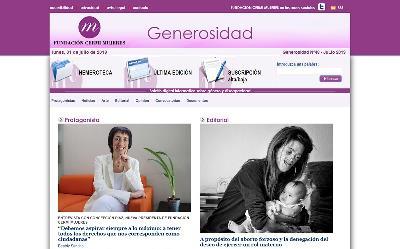 Imagen de la portada del boletín Generosidad de la Fundación CERMI Mujeres de julio de 2019