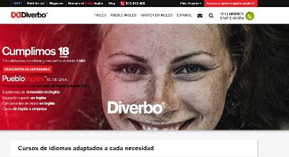 Imagen de la web de la empresa Diverbo
