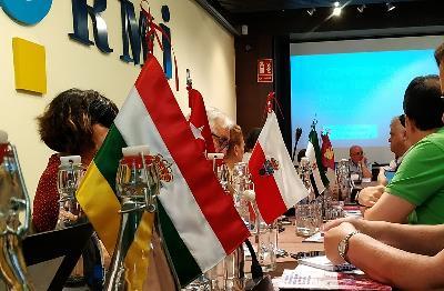 Banderas autonómicas en la celebración de la II Conferencia CERMI Territorios