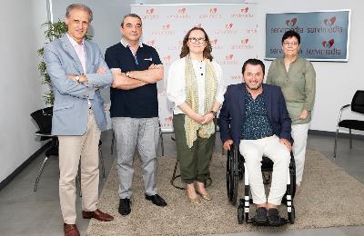 Foto de familia de la mesa del cermi '¿Cómo llenar la España vaciada? Aportaciones desde la discapacidad organizada'