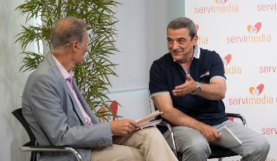 José Manuel González Huesa, director cermi.es semanal, con José Antonio Romero, gerente de CERMI Castilla-La Mancha