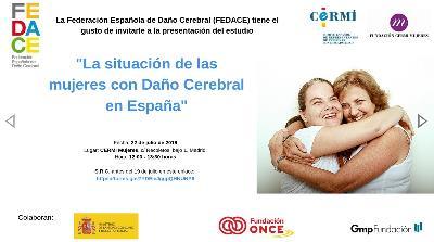 Portada del Estudio 'La situación de las mujeres con Daño Cerebral Adquirido en España'