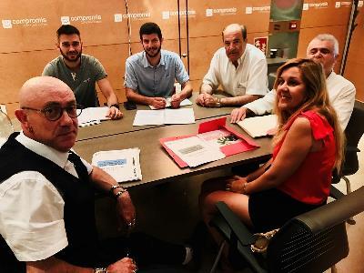 CERMI CV reunido con representantes del Grupo Parlamentario Compromis
