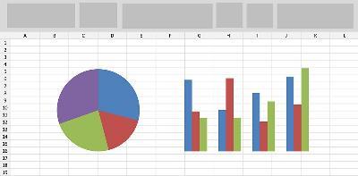 Ilustración de gráficos de estadísticas