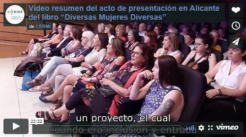 """Imagen que da paso a la Grabación audiovisual íntegra del acto de presentación en Alicante del libro """"Diversas Mujeres Diversas"""""""