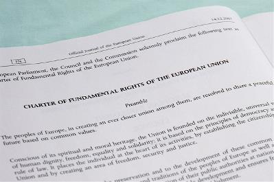 Detalle de la Carta de la Unión Europea de Derechos Fundamentales de 2007