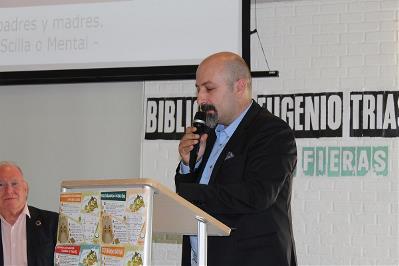 Basilio García Copín, presidente de Salud Mental Ceuta, presentando el Plan Estratégico 2019-2022 de Salud Mental España