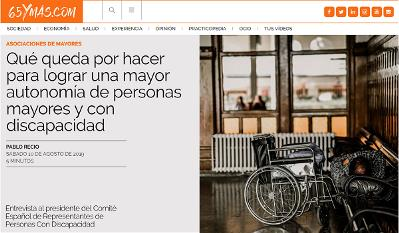 Detalle de la web 65ymas.com