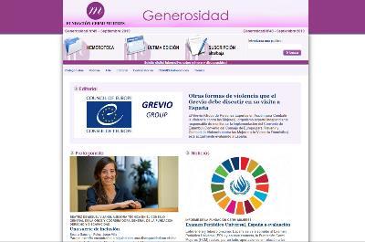 Detalle de la portada del boletín Generosidad Nº49 de la FCM