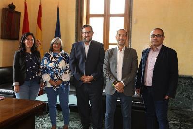 El vicepresidente Remírez recibe a una delegación del CERMIN