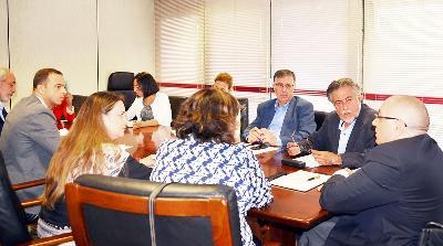 Reunión de trabajo de CERMI Comunidad de Madrid con el PSOE