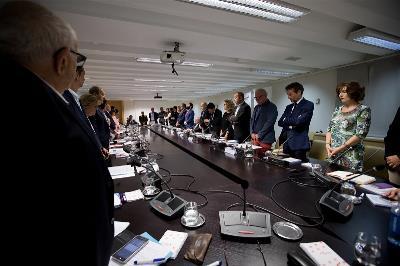 Minuto de silencio en la reunión ordinaria del Comité Ejecutivo en la sede del Ayuntamiento de Madrid