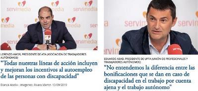 Lorenzo Amor, presidente de ATA y Eduardo Abad, presidente de Upta