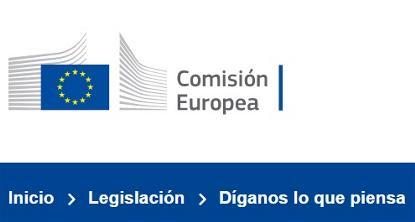 Imagen de la web de la Comisión Europea sobre la consulta pública