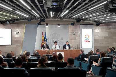 Imagen durante el Consejo de Ministros (Pool Moncloa/JM Cuadrado)
