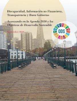 Portada de la guía 'Discapacidad, Información no Financiera, Transparencia y Buen Gobierno. Avanzando en la Agenda 2030 y los Objetivos de Desarrollo Sostenible'