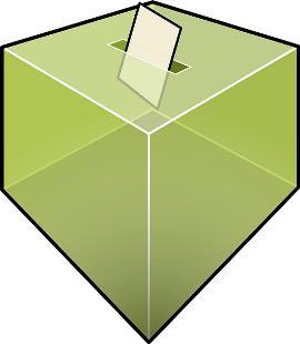 Detalle de una urna para votar