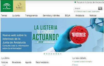 Detalle de la página web de la Junta de Andalucía