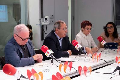 Nel Anxelu González, Enrique Galván, Ángeles Blanco y Mónica Otaola