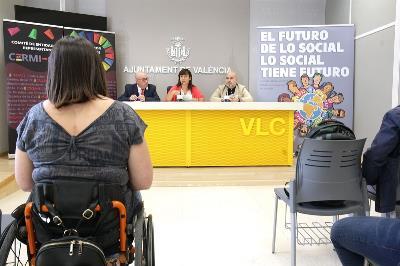 Imagen de la rueda de prensa de presentación de la Convención 'El futuro de lo social (lo social tiene futuro)' (foto cedida por el ayuntamiento de Valencia)