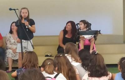 Niños y niñas con discapacidad participan en la presentación de 'Marcela, inventora de palabras'