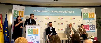 el presidente de la Xunta, Alberto Núñez Feijóo,, en la inauguración del XV Congreso de CERMIS Autonómicos,