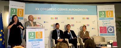 El presidente del CERMI, Luis Cayo Pérez Bueno, en la inauguración del XV Congreso de CERMIS Autonómicos