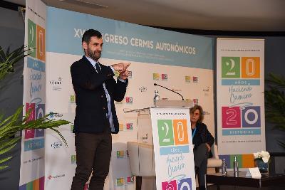 el presidente de CERMI Galicia, Iker Sertucha, en la inauguración del XV Congreso de CERMIS Autonómicos