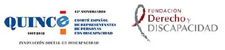 Logotipos del CERMI y de la Fundación Derecho y Discapacidad