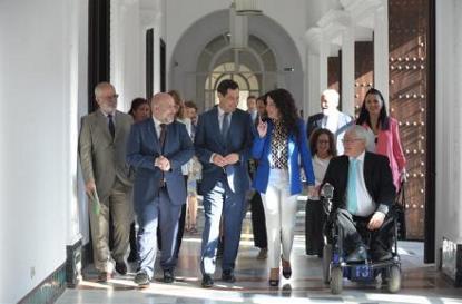Moreno Bonilla, con los representantes del CERMI.